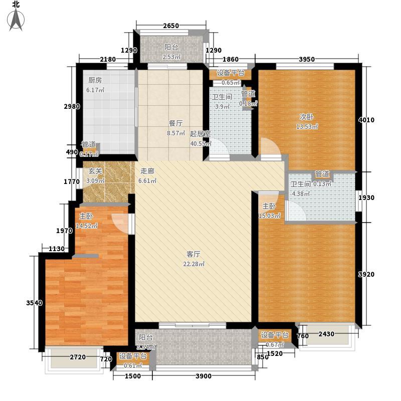 中海·凤凰熙岸125.00㎡中海凤凰熙岸V户型3室2厅
