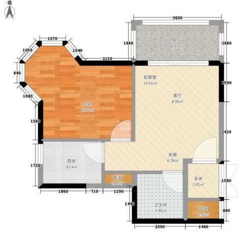 1+8时代广场1室0厅1卫1厨61.00㎡户型图