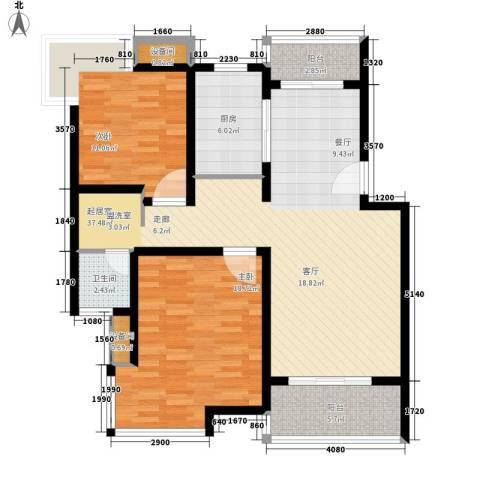 博泰景苑2室0厅1卫1厨94.00㎡户型图