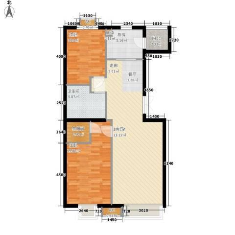 华联孔雀城2室0厅1卫1厨108.00㎡户型图