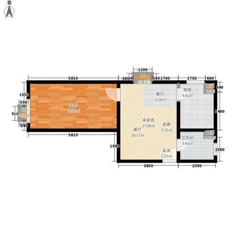 海尚都1室0厅1卫1厨67.00㎡户型图