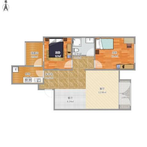 泰安盛世郡2室1厅1卫1厨132.00㎡户型图