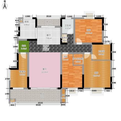 德泽苑3室0厅2卫1厨147.00㎡户型图