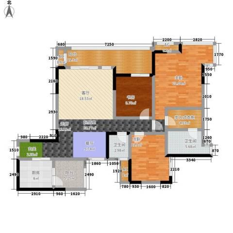 御景豪庭3室0厅2卫1厨118.60㎡户型图