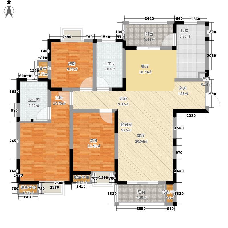 新加坡尚锦城134.34㎡漾水居B8户型3室2厅