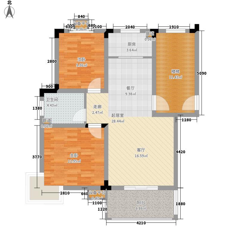 文一名门皇马79.80㎡多层E6户型2室2厅