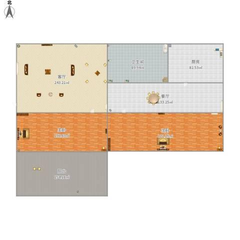 东方巴黎2室2厅1卫1厨1291.00㎡户型图