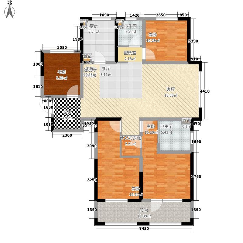 朗诗·太湖绿郡147.00㎡13栋D2户型4室2厅