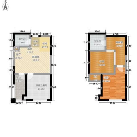 弘泽印象1室0厅2卫0厨89.00㎡户型图