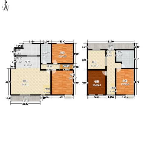 环龙新纪园4室1厅2卫1厨216.00㎡户型图