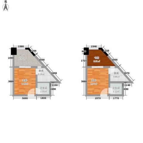 ID空间3室0厅2卫2厨41.14㎡户型图