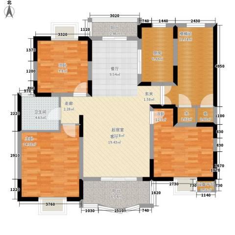 明丰世纪苑3室0厅1卫1厨118.00㎡户型图