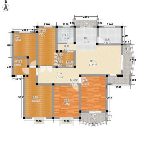 明丰世纪苑4室0厅2卫1厨143.00㎡户型图