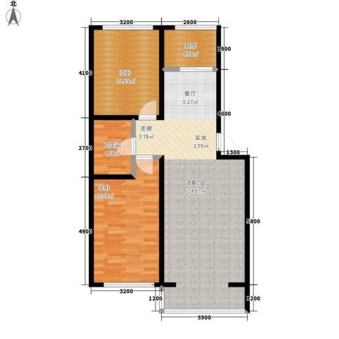 天鸿理想家园2室0厅1卫1厨92.00㎡户型图