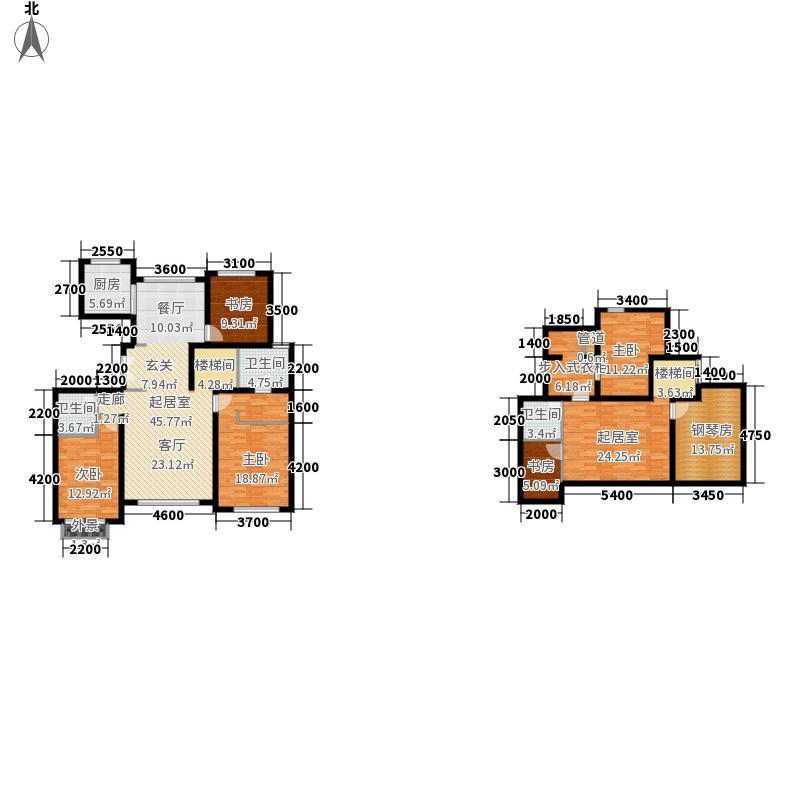 领秀翡翠山196.00㎡D4户型3室2厅