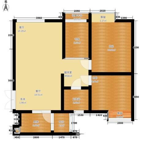 枫桥水郡3室0厅1卫1厨83.00㎡户型图