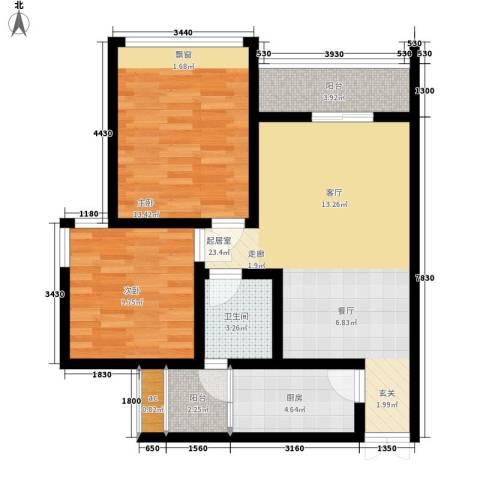 枫桥水郡2室0厅1卫1厨70.00㎡户型图