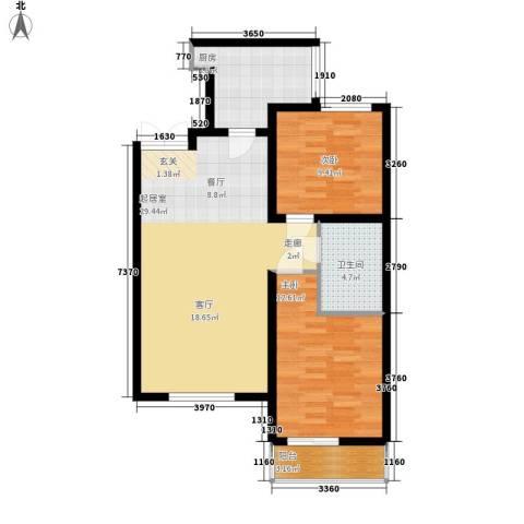 新加坡城2室0厅1卫1厨93.00㎡户型图