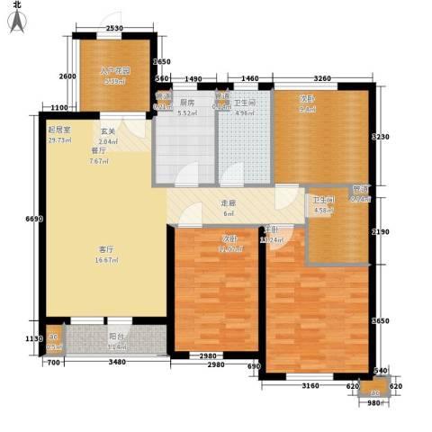 新加坡城3室0厅2卫1厨126.00㎡户型图