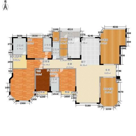 恒大华府4室0厅4卫1厨294.83㎡户型图