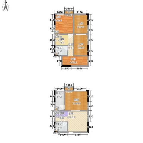 优跃城1室0厅2卫1厨73.00㎡户型图