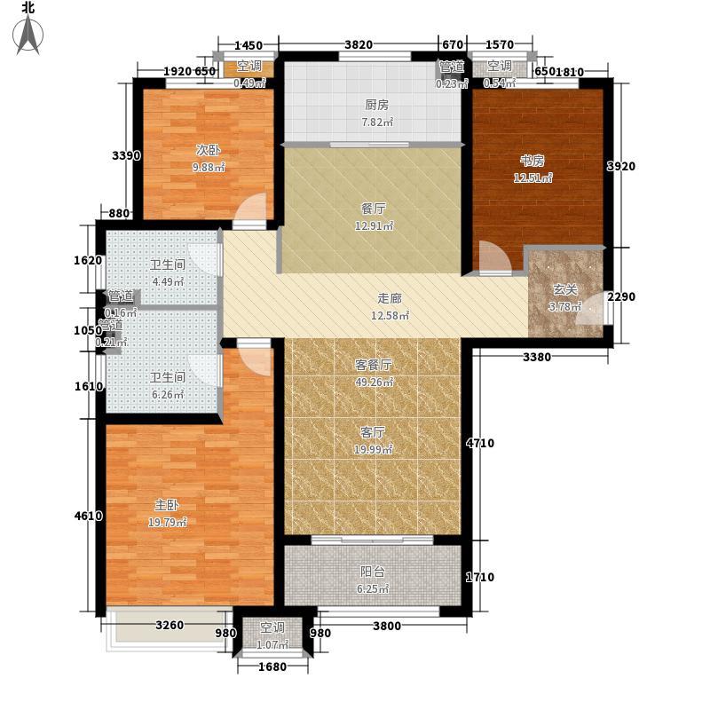 中海国际社区·御城135.00㎡一里城恋景香颂3E户型3室2厅