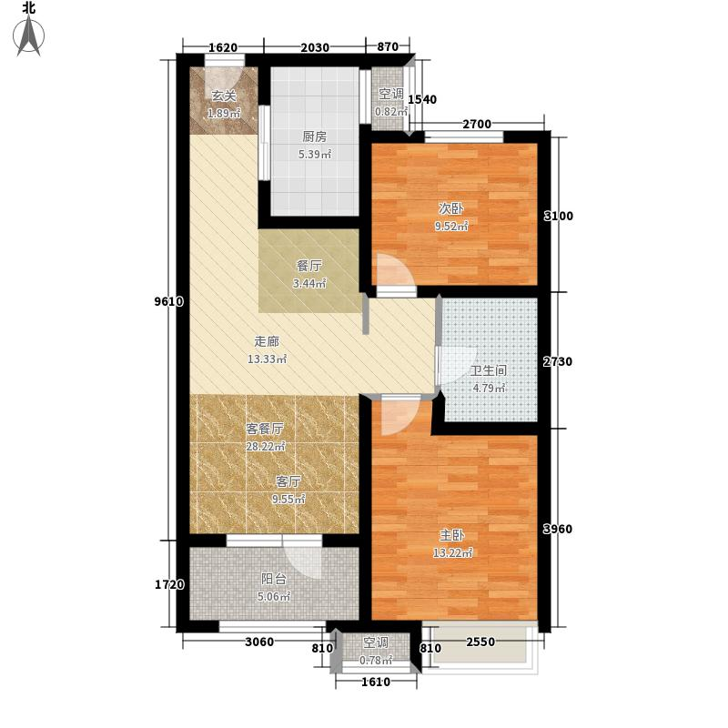 中海国际社区·御城79.00㎡A户型2室2厅
