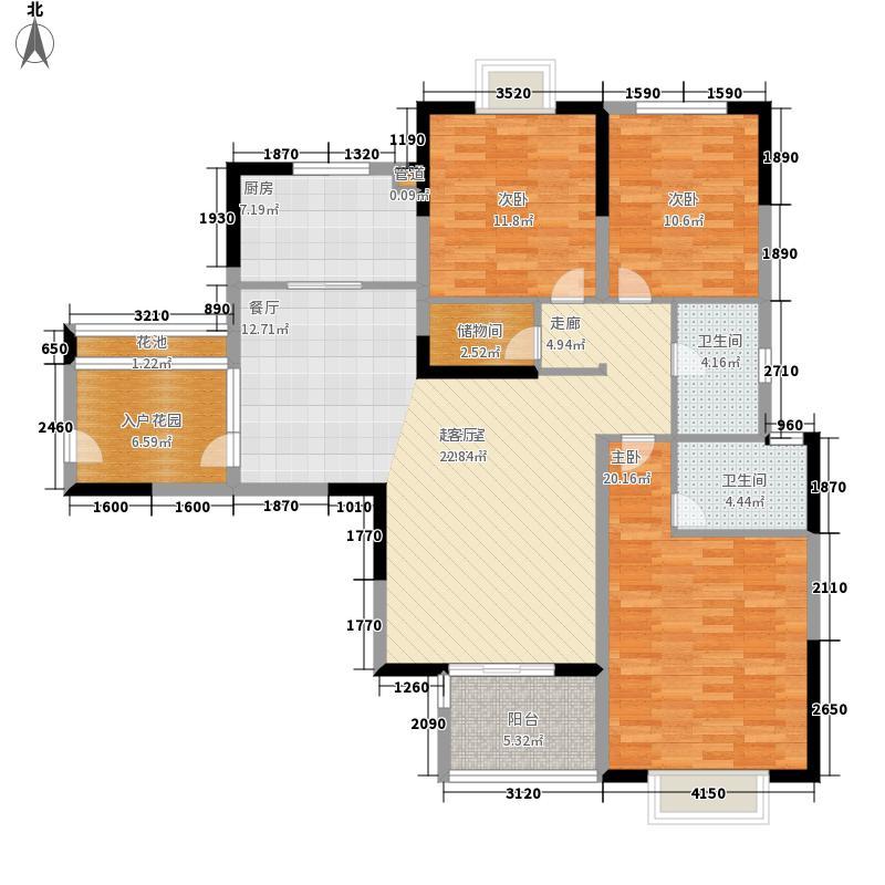 苏宁威尼斯水城130.00㎡十五街区2、5、7、10-12、14幢标准层3A户型