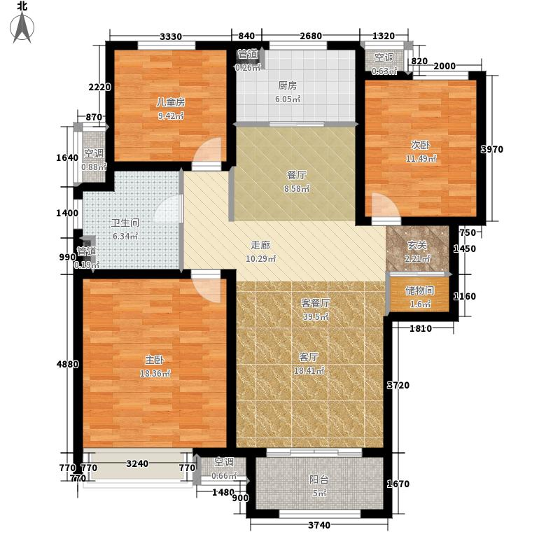 中海国际社区·御城115.00㎡C2户型3室2厅