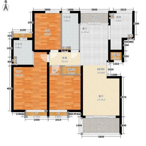金色家园3室0厅2卫1厨113.00㎡户型图