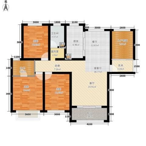 兰田首府3室1厅1卫1厨136.00㎡户型图