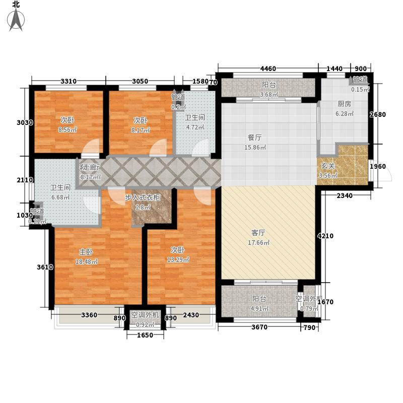 中海国际社区·御城140.00㎡一里城4A户型4室2厅
