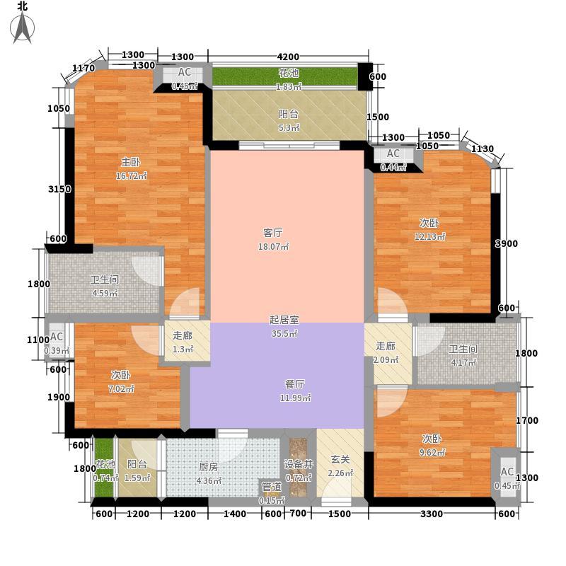 勤诚达22世纪二期124.00㎡8号楼03-123~户型3室2厅