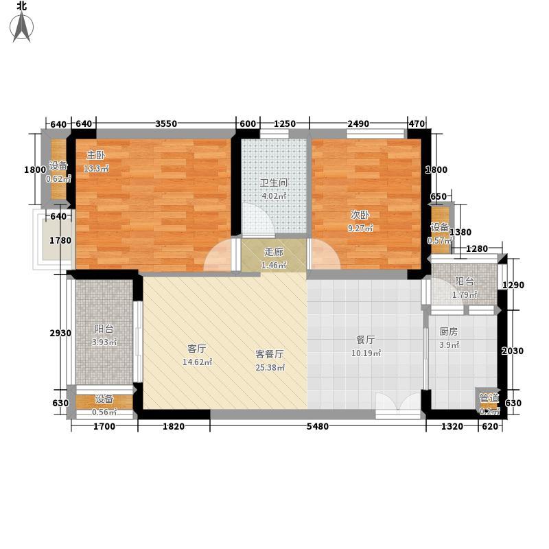 金科visar国际68.00㎡二期2号楼面积6800m户型