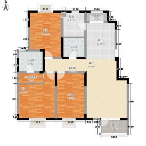 武清五一阳光3室0厅2卫1厨135.00㎡户型图