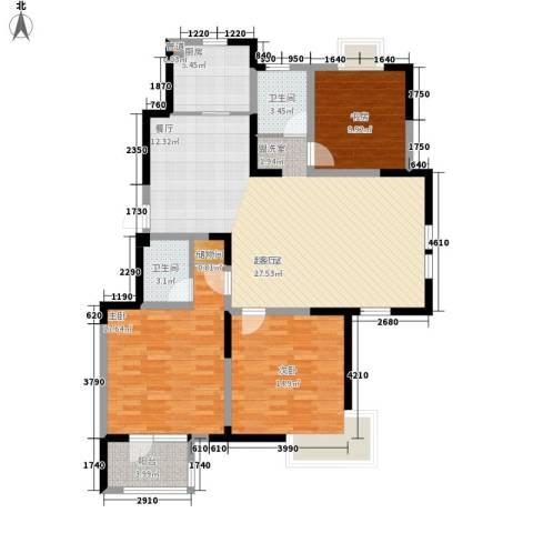 武清五一阳光3室0厅2卫1厨115.00㎡户型图
