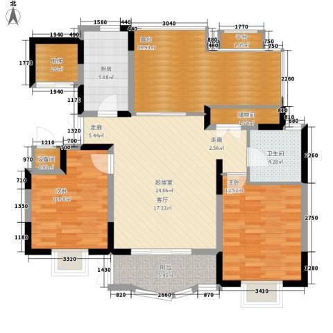 明丰世纪苑2室0厅1卫1厨98.00㎡户型图