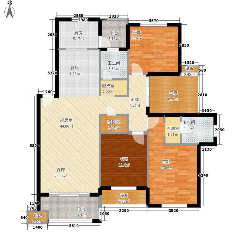 美联奥林匹克花园四期136.00㎡4户型3室2厅