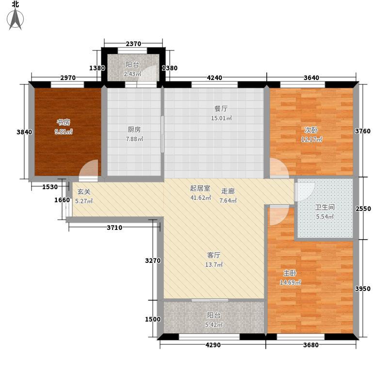 华南城111.00㎡住宅哈东华府11117/C4户型3室2厅