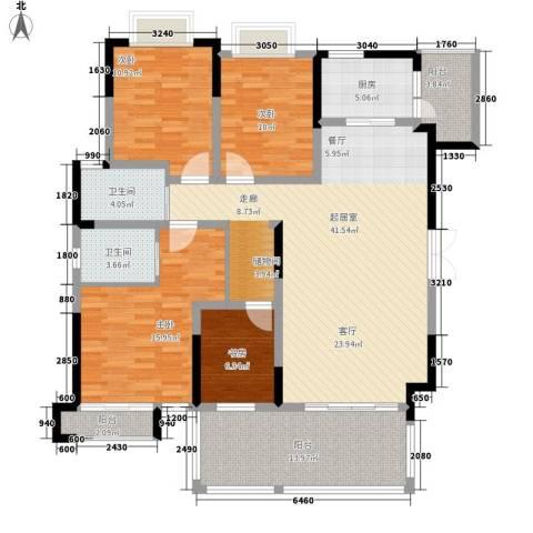 黔源蓝湖星宇4室0厅2卫1厨138.00㎡户型图