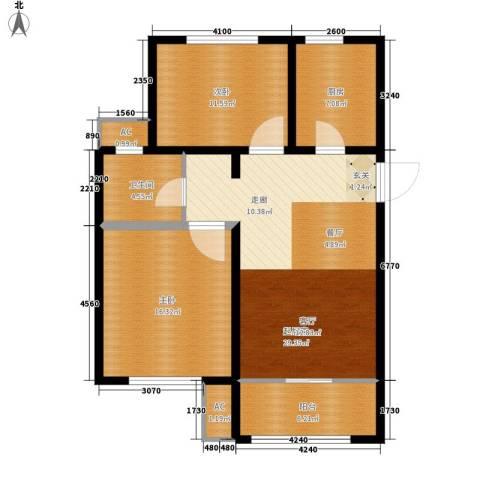 旭辉朗悦湾2室0厅1卫1厨85.00㎡户型图
