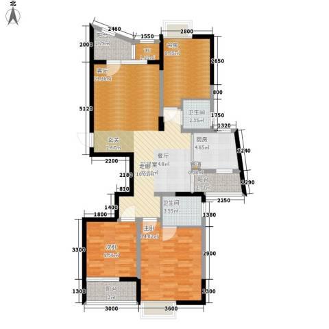 金色家园3室0厅2卫1厨119.00㎡户型图