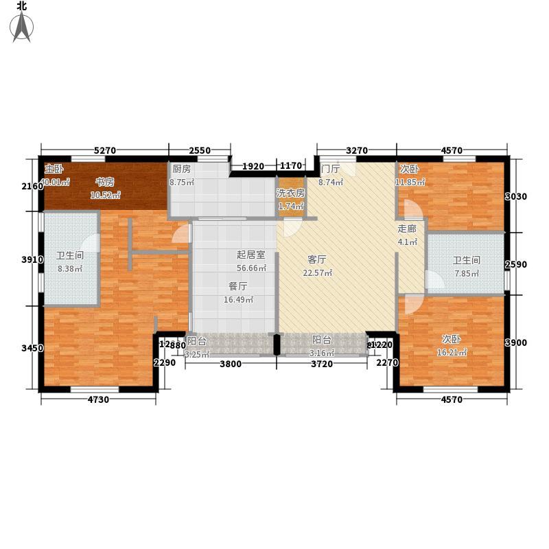 远洋万和城165.88㎡B1-1号楼二单面积16588m户型