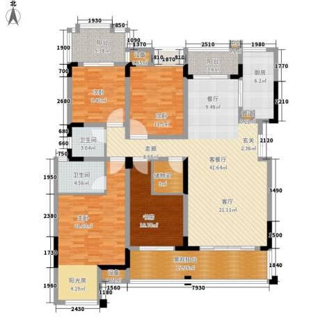 天盈首原4室1厅2卫1厨195.00㎡户型图