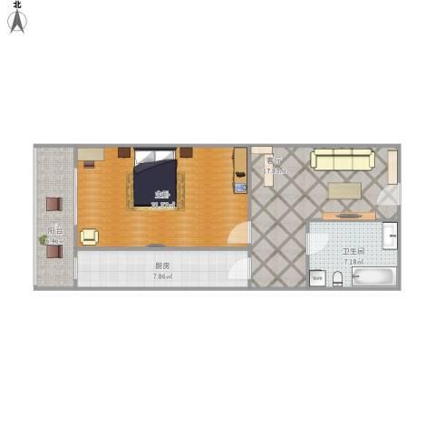 国宜北里1室1厅1卫1厨82.00㎡户型图
