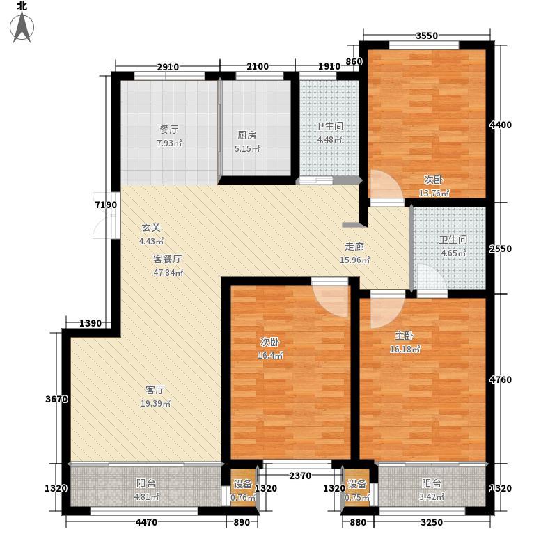 工友城莱茵小镇133.73㎡工友城·莱茵小镇D-G1户型3室2厅