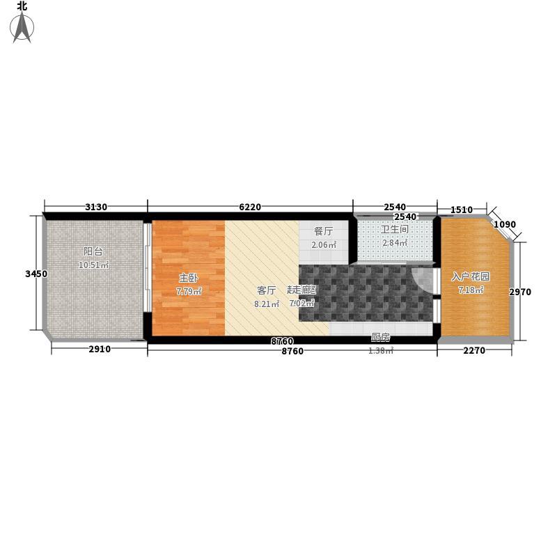 平海·美龄湾34.69㎡平海美龄湾户型1室1厅