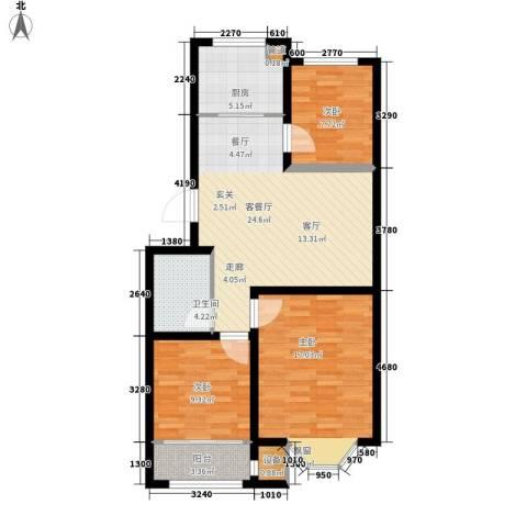 工友城莱茵小镇3室1厅1卫1厨104.00㎡户型图