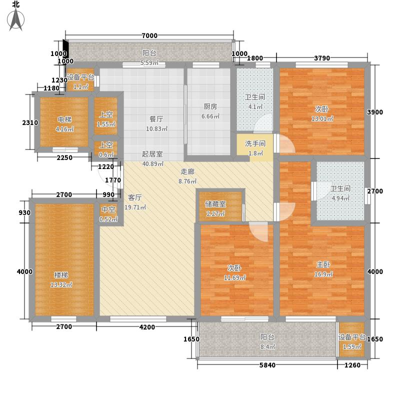 嘉和银领时代137.47㎡C户型3室2厅
