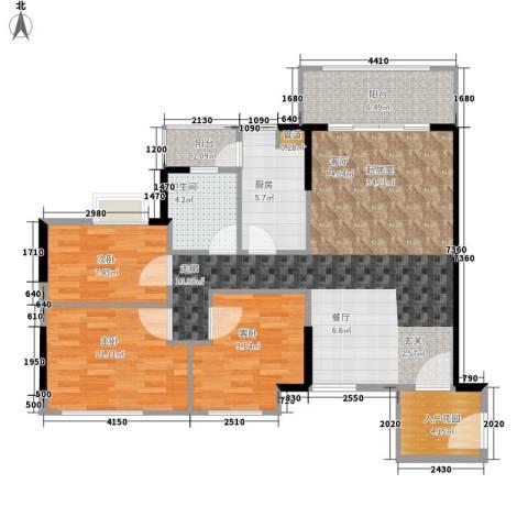 德洲城3室0厅1卫1厨94.00㎡户型图